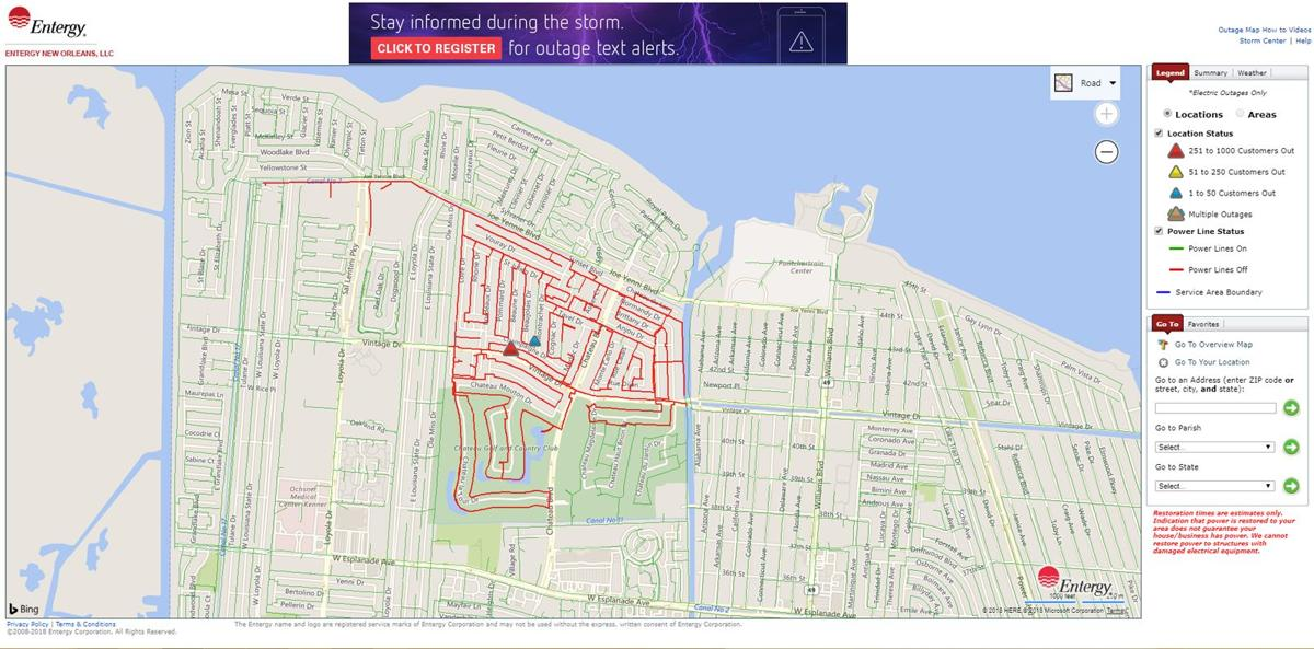 More than 2K Entergy customers in Kenner without power due to ... Entergy New Orleans Power Outage Map on entergy arkansas, entergy outage update, entergy louisiana, utility outage map, comcast outage map, duke energy outage map, entergy transmission line map, entergy texas outage, mississippi entergy outage map, entergy substation map,