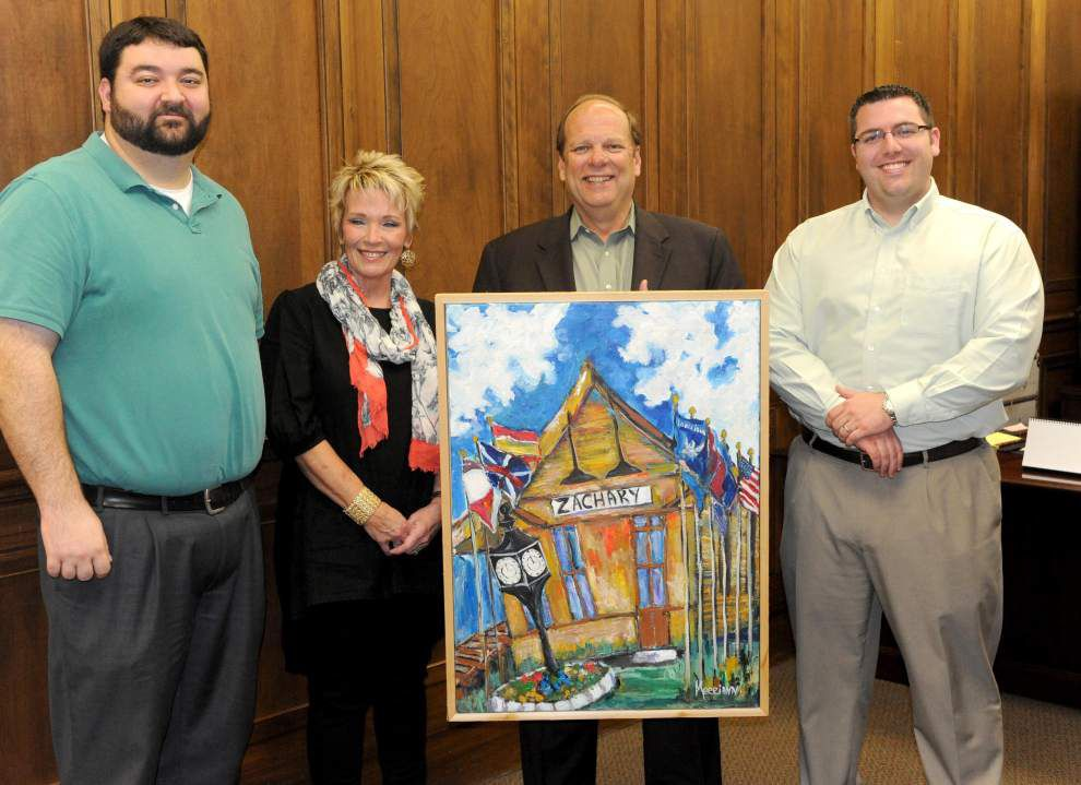 Artist gives city painting of historic Zachary landmark _lowres