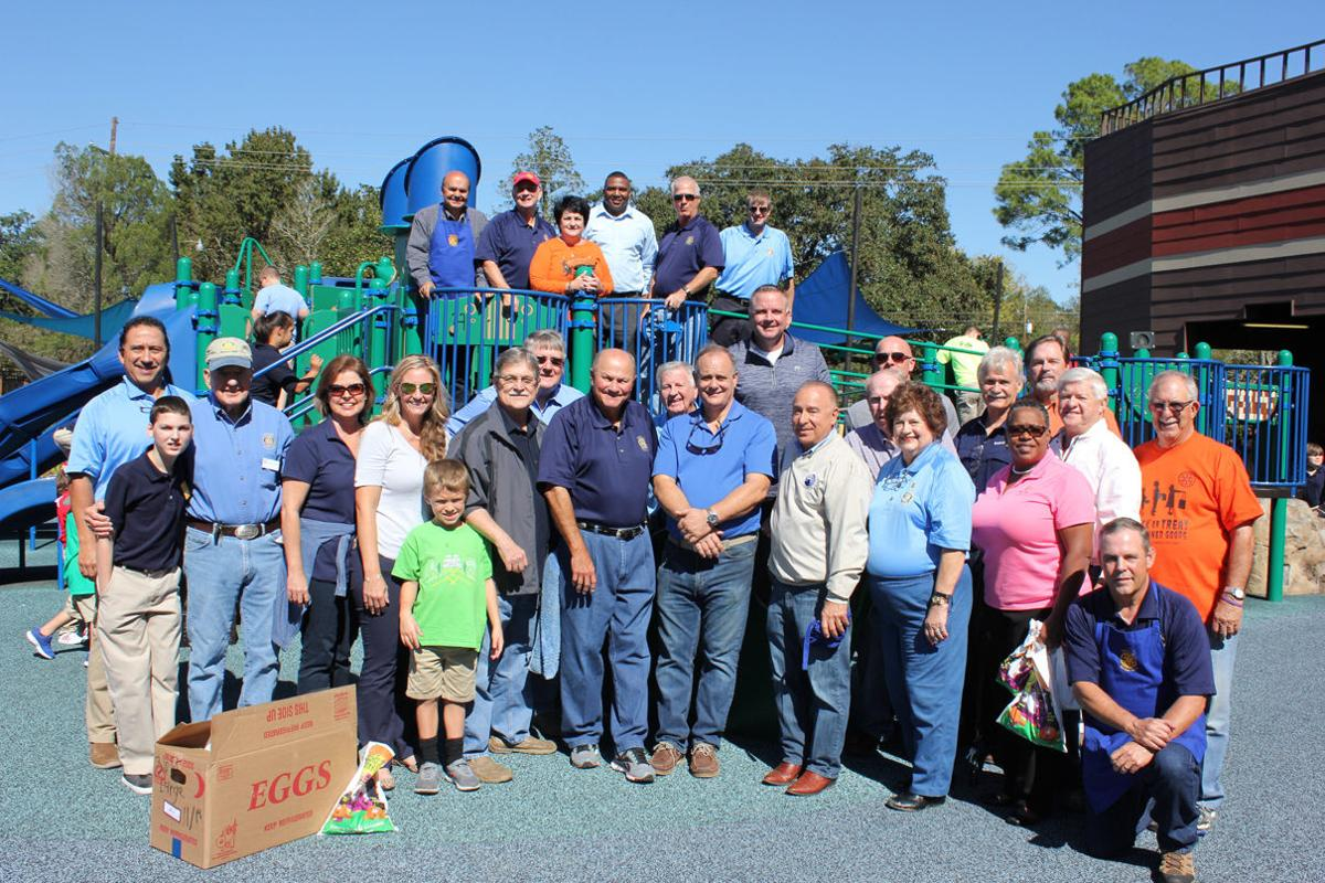Members of the Rotary Club of Gonzales at Kids in the Park.JPG