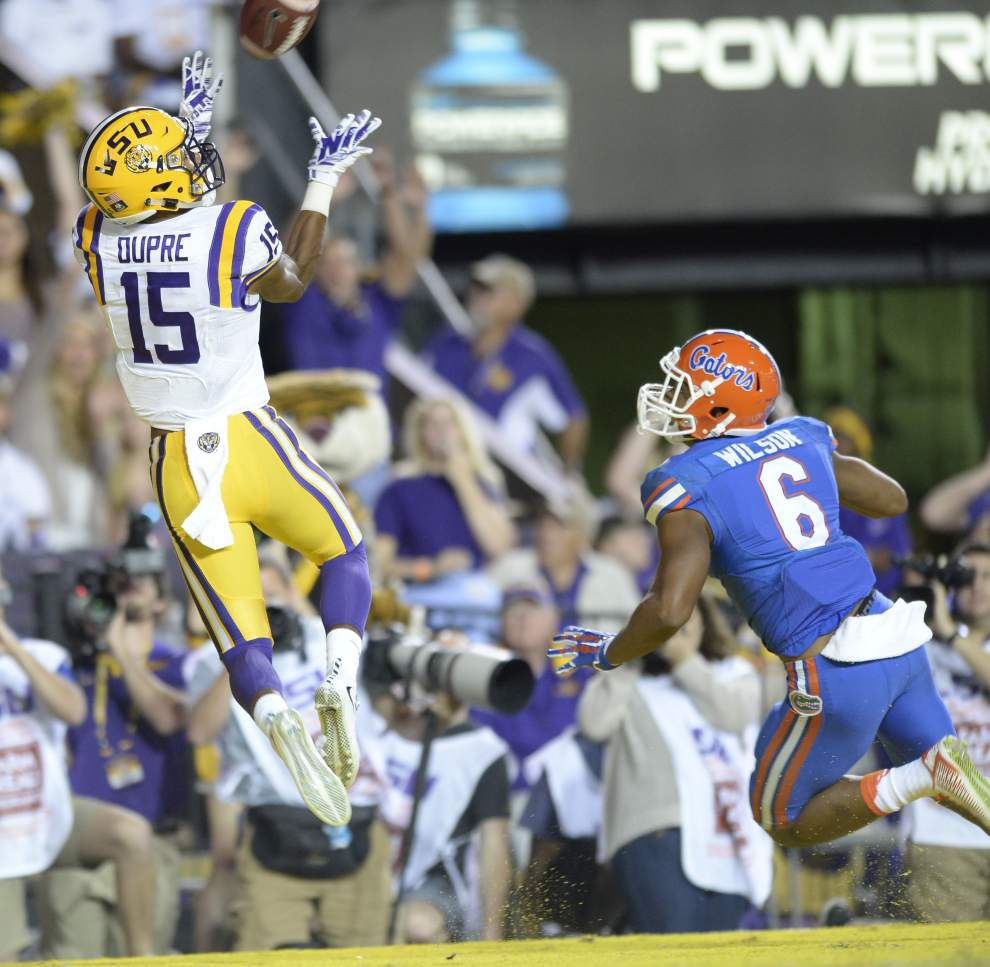 Fade-route touchdowns exemplify trusting bond between LSU QB Brandon Harris, Malachi Dupre _lowres