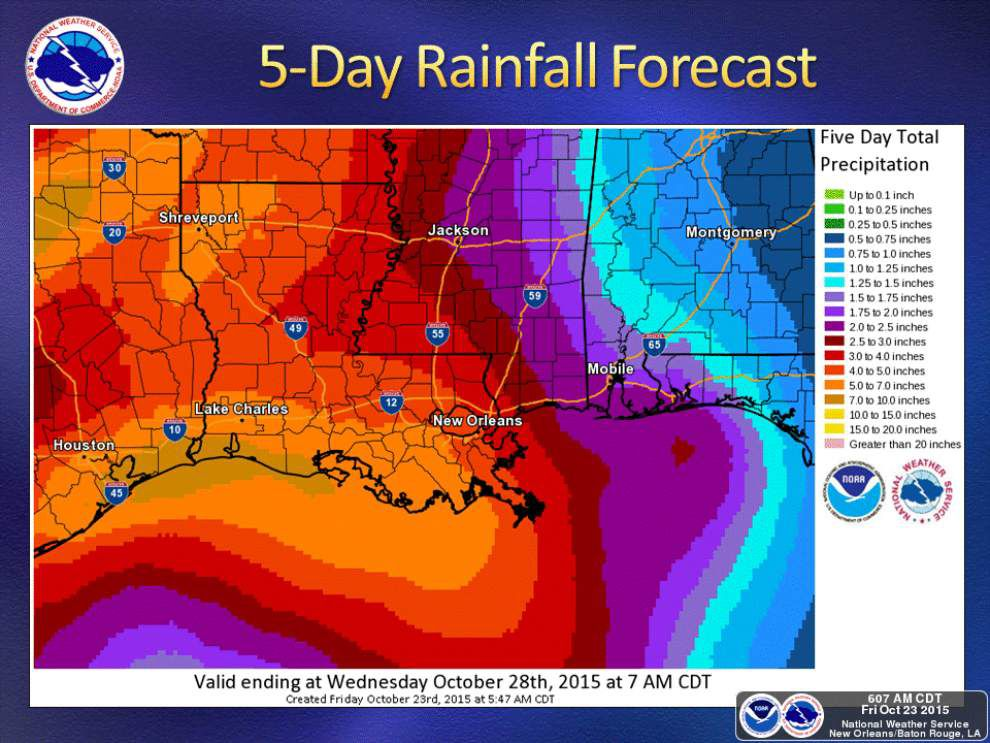 Hurricane Patricia moisture to feed into storm system expected to bring 4-7 inches of rain to south Louisiana _lowres