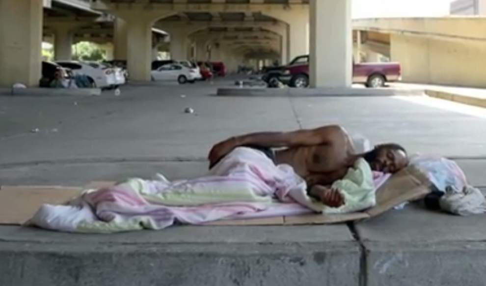 Malcolm Scott discusses life for the homeless in New Orleans _lowres