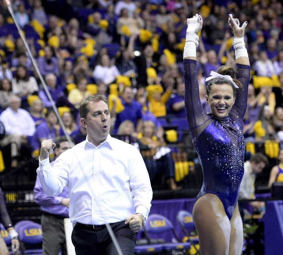 LSU gymastics team tied for No. 1 in nation after weekend victory _lowres