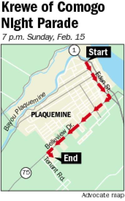 Plaquemine's Comogo Parade moved to Sunday night due to expected bad weather _lowres