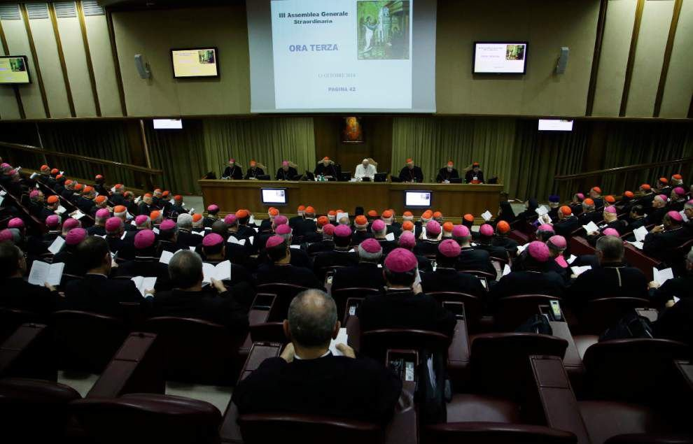 Catholic bishops in 'seismic' opening toward gays _lowres