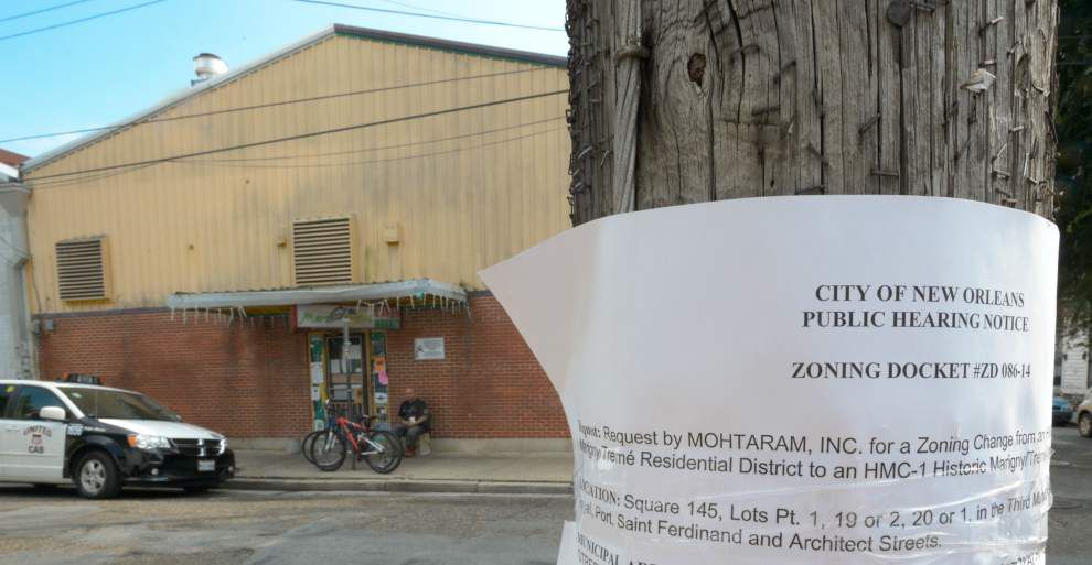 Planning panel opposes alcohol sales at Marigny store _lowres