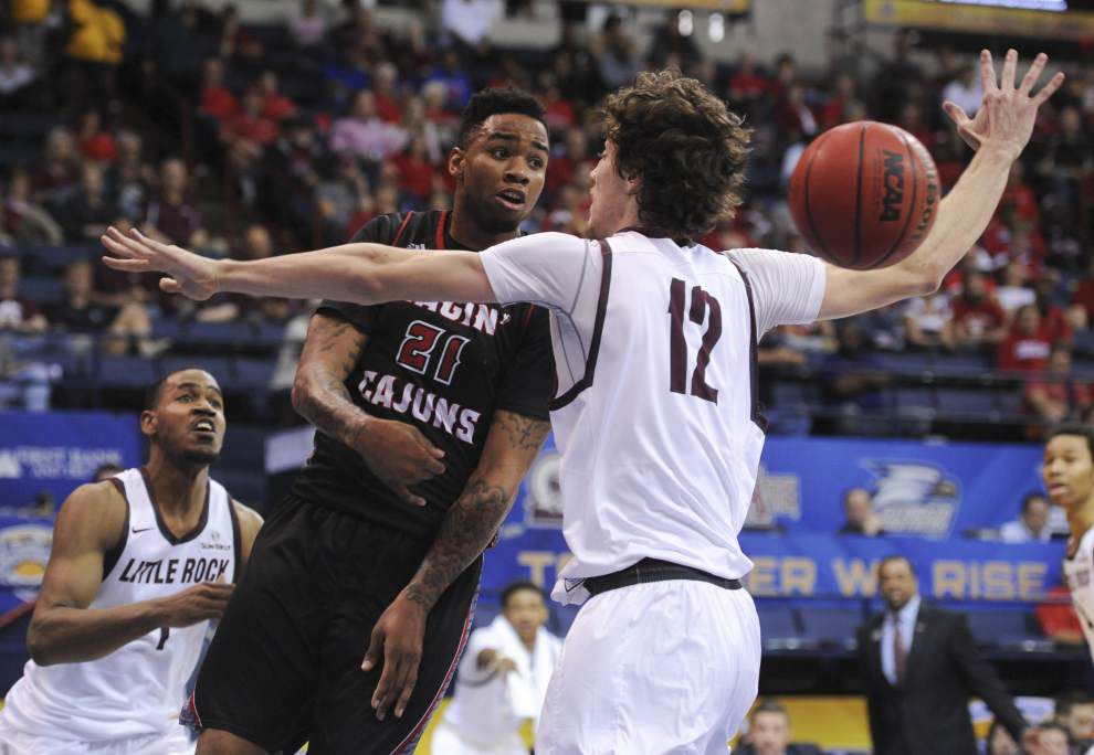 Turnovers and a slow start ding the Cajuns men, who fall 72-65 to Little Rock in the Sun Belt semifinals _lowres