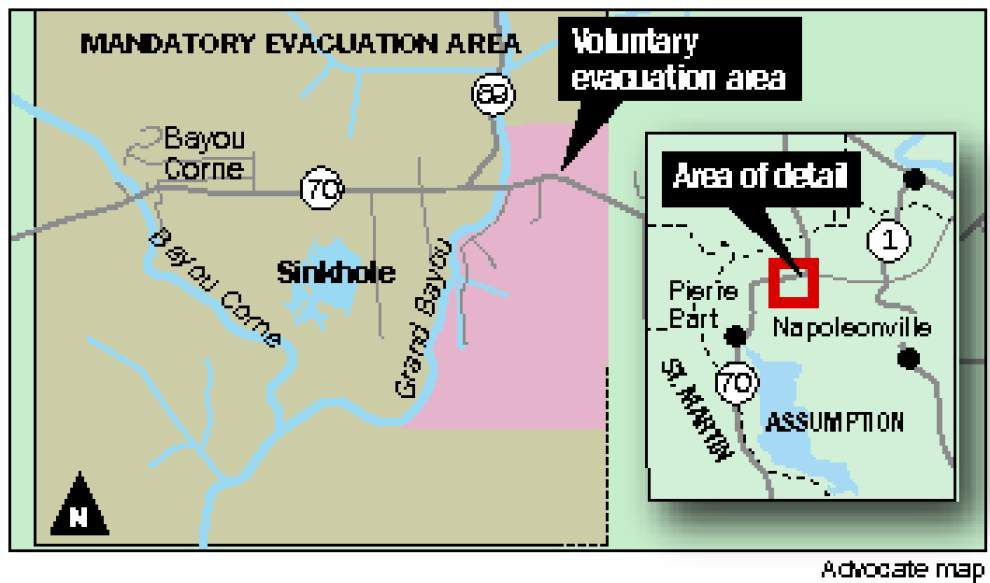 Evacuation order lifted in small area affected by sinkhole; mandatory evacuation still in place for Bayou Corne _lowres