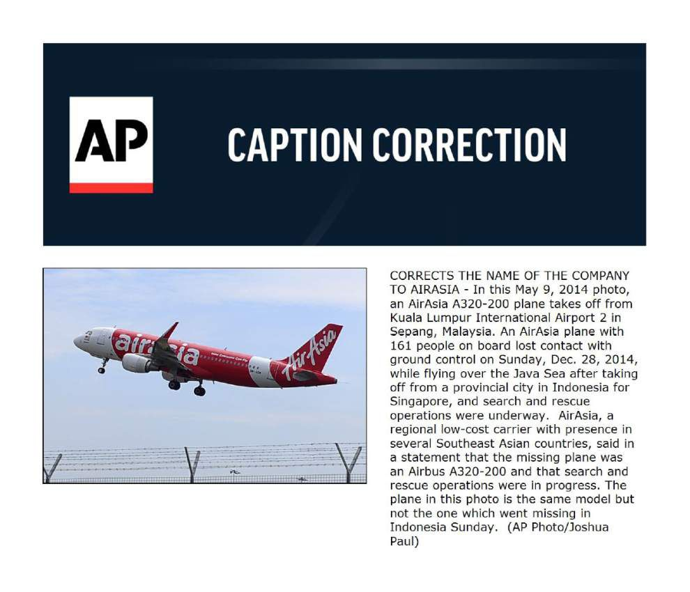 AirAsia plane carrying 162 lost; 3rd Malaysia airline shock _lowres