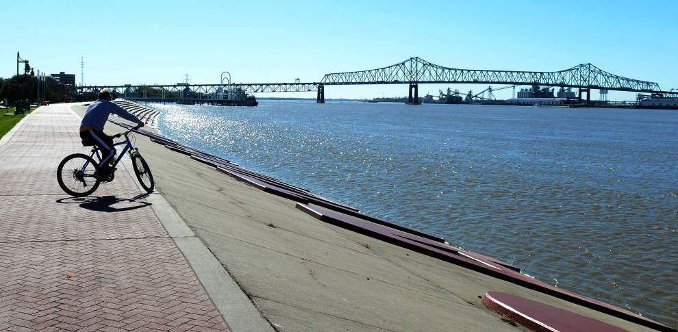 Mississippi River Hits Flood Stage In Baton Rouge On