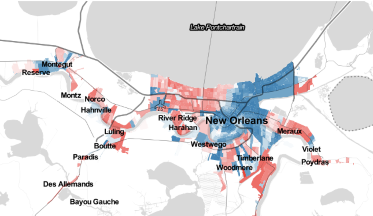 New Orleans and politics? It's a fight. Area ranked 2nd-most polarized in nation, study says