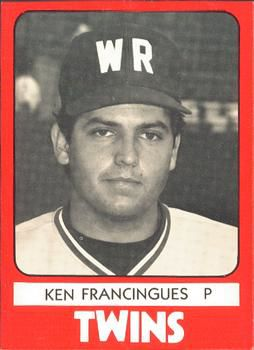 Kenny Francingues minor league baseball card