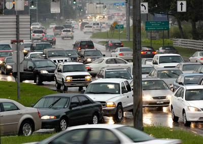 Essen lane traffic jam