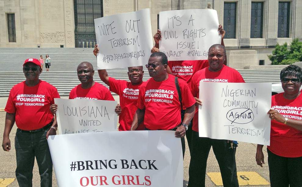 Group holds rally in BR for girls abducted in Nigeria _lowres