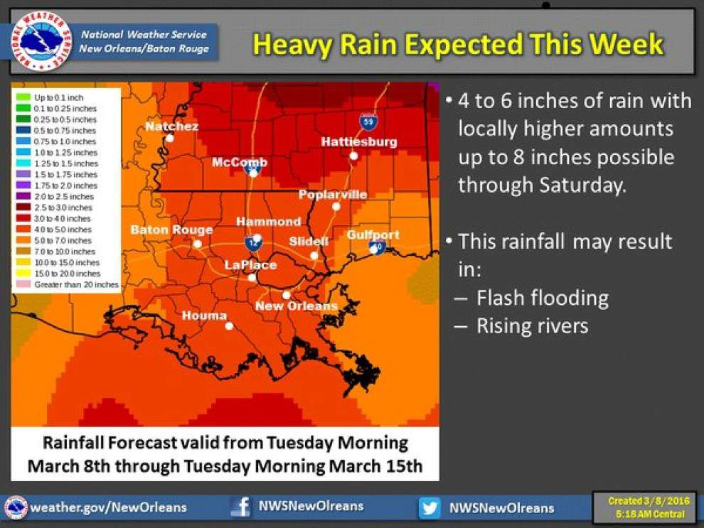 Severe storms possible in south Louisiana later this week; 'biggest threat right now is heavy rain' _lowres