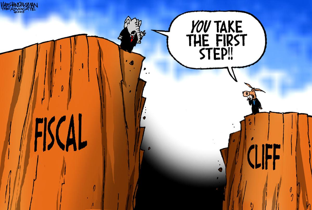 Walt Handelsman: State Fiscal Cliff