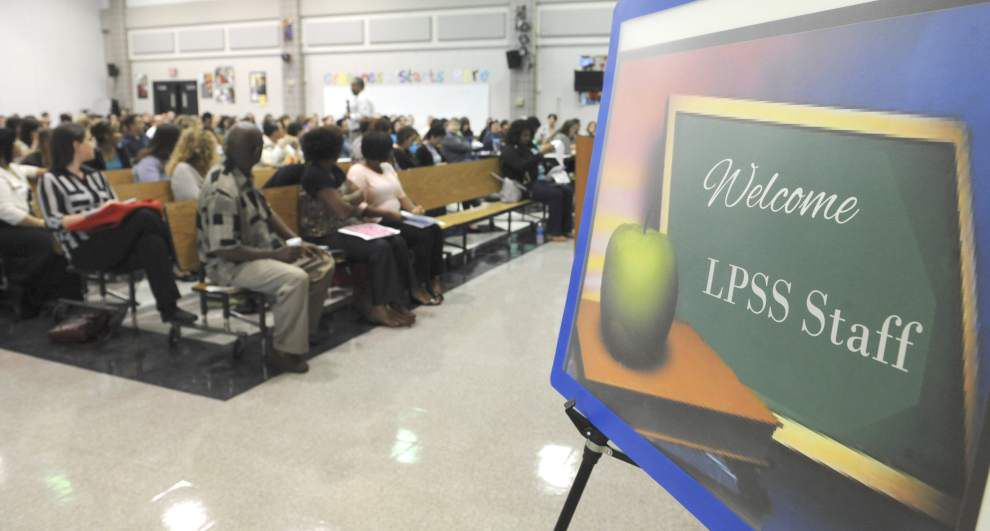 New hires for Lafayette schools — both experienced teachers and first-timers — attend training this week _lowres
