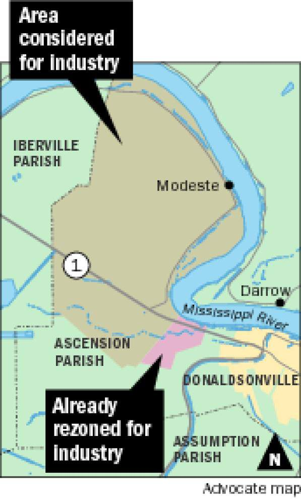 Ascension council plans to earmark 17,000 acres on west bank for industry; residents have mixed feelings _lowres