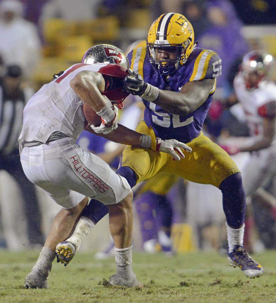 Like LSU's other draft-eligible juniors, linebacker Kendell Beckwith plans to wait on NFL decision _lowres