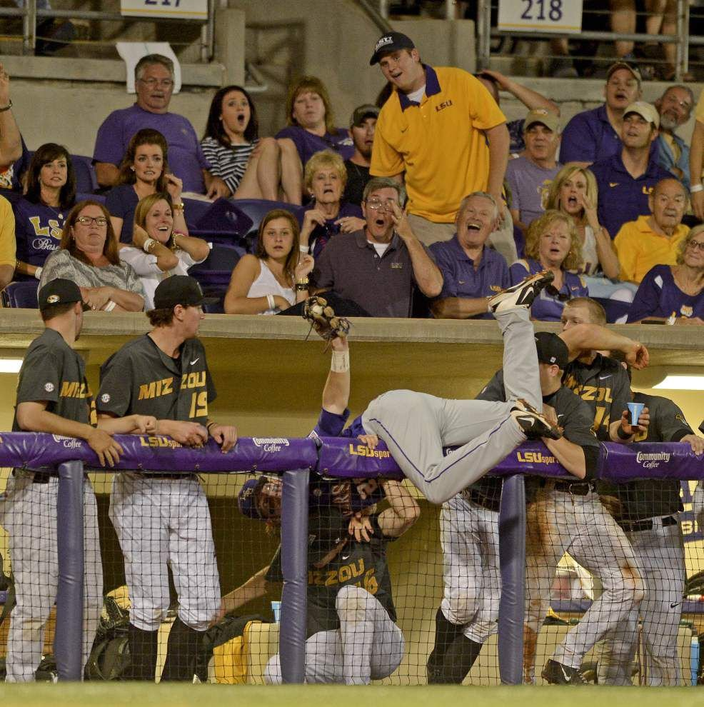 Look who's back: Pitcher Alex Lange leads LSU to an 8-2 series-clinching win over Missouri _lowres