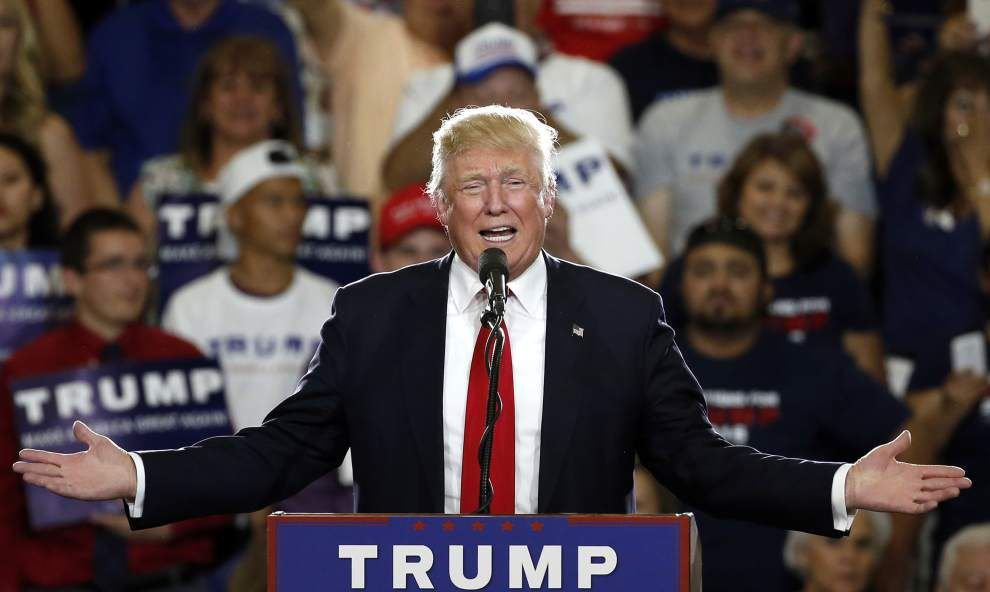 Donald Trump reaches number of delegates needed to clinch GOP nomination for president _lowres
