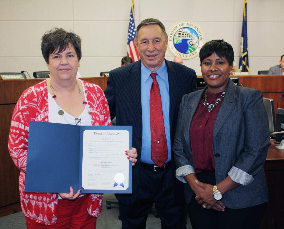 September is Suicide Prevention Month in Ascension Parish _lowres