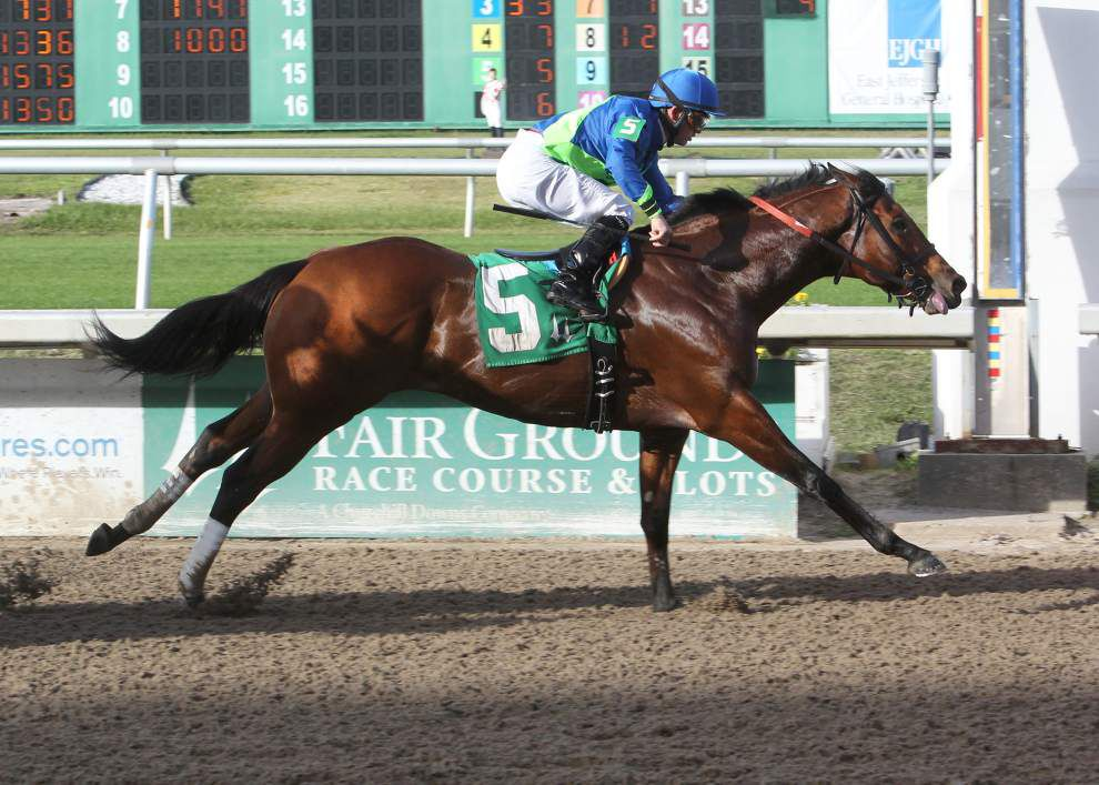 Control Stake wins Thanksgiving Handicap as they're off racing, partying at the Fair Grounds _lowres