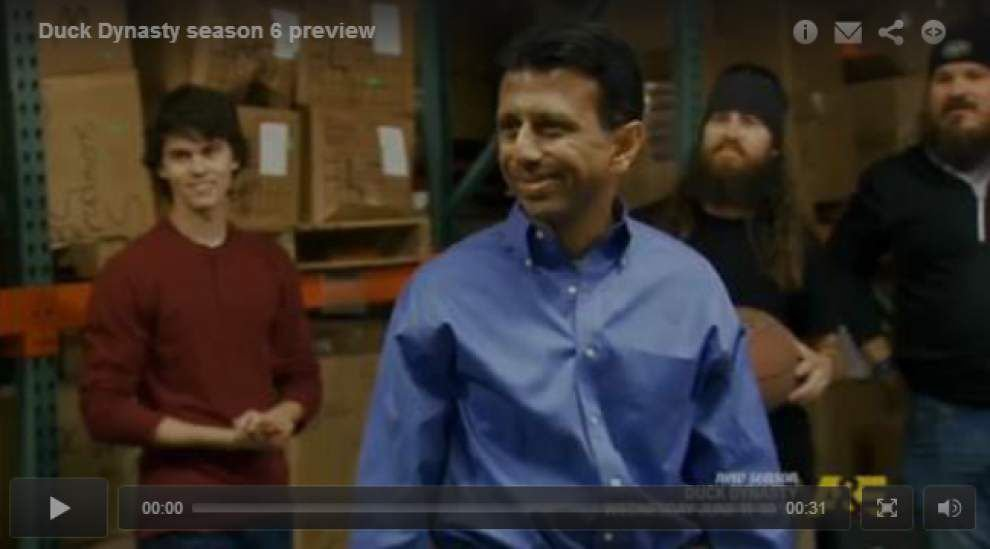 Jindal makes reality TV debut on A&E's 'Duck Dynasty' _lowres