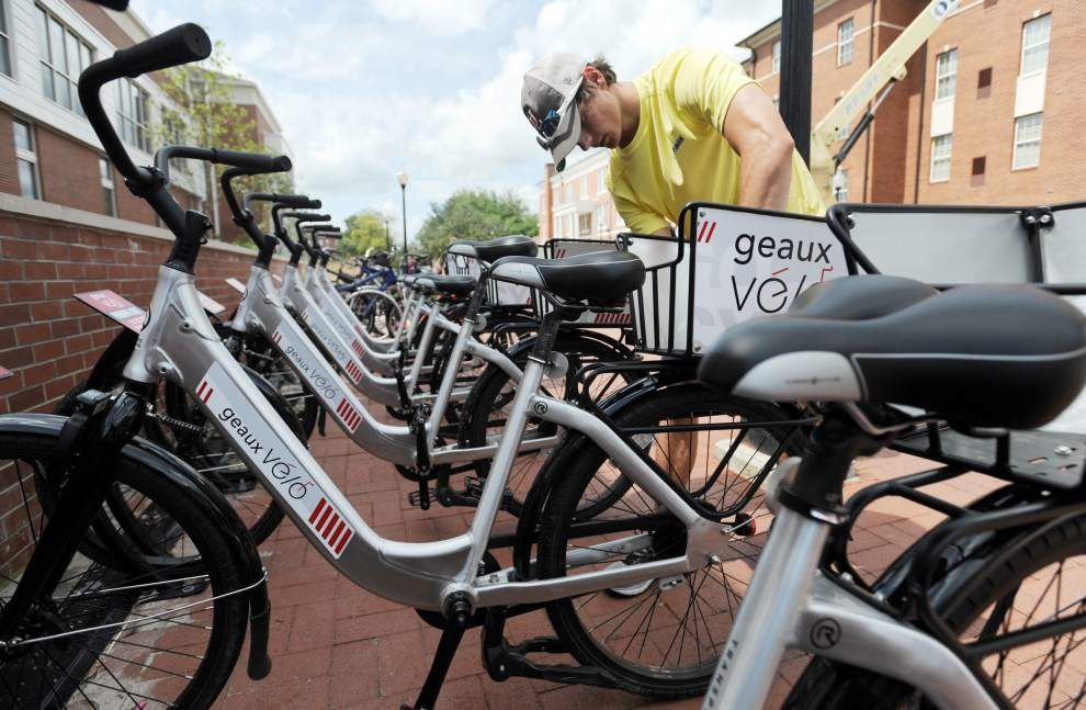 University of Louisiana at Lafayette's new bike sharing program huge success; expansion on the horizon _lowres