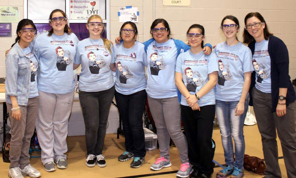 Academy of Our Lady students participate in tech challenge _lowres