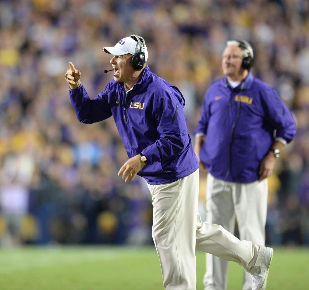 LSU coach Les Miles: Center Elliott Porter out for the game at Texas A&M _lowres