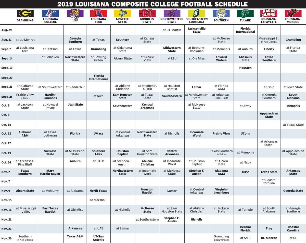 2019 Louisiana College Football Schedule.pdf