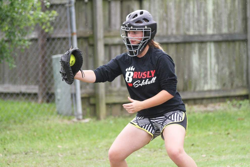 Brusly catcher Kaitlyn David is not a vocal leader, but her defensive skills, big bat speak volumes _lowres