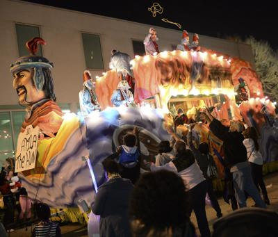 Krewe of Orion BR parade for Red