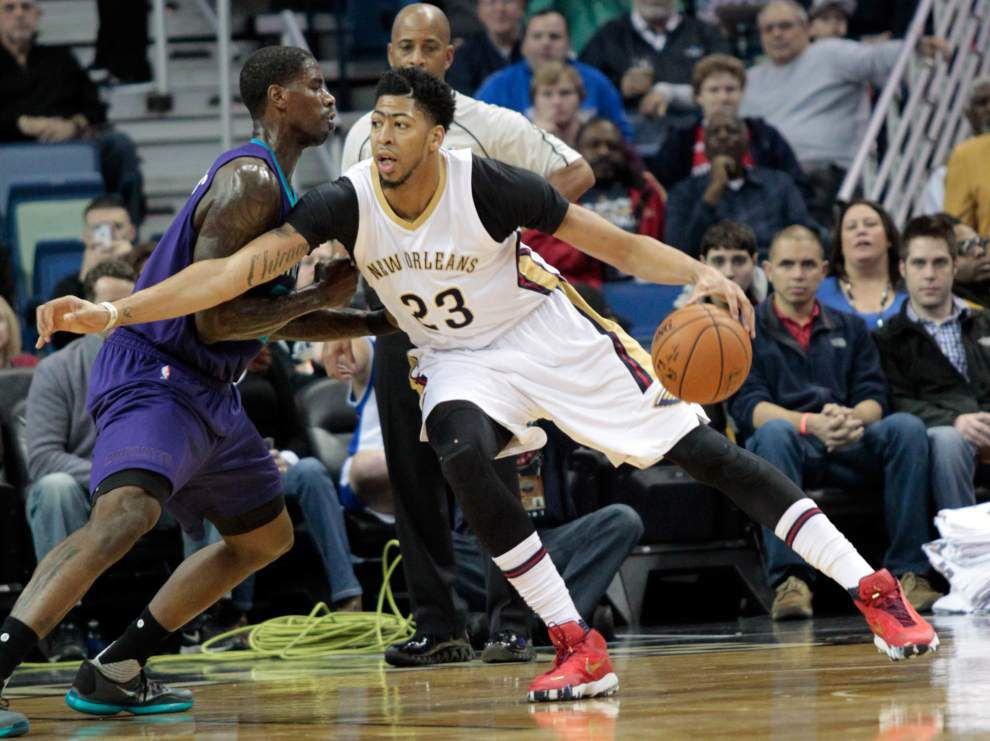 Pelicans outlast Hornets for 109-107 win Friday night _lowres