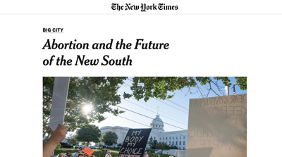 Abortion and the new South