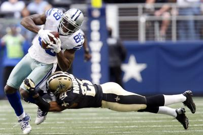 Saints Cowboys Football. Buy Now. Dallas Cowboys wide receiver Dez Bryant  (88) breaks away from New Orleans ... 999a6a244