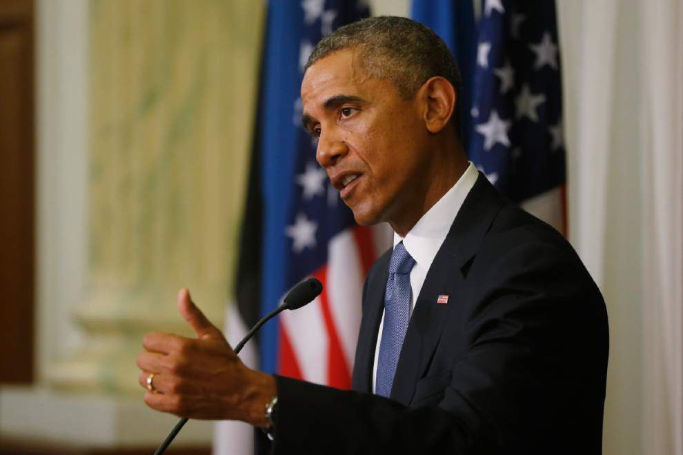 Obama calls Ukraine 'a moment of testing' for West _lowres