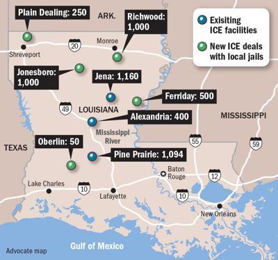 051019 ICE jails Louisiana map