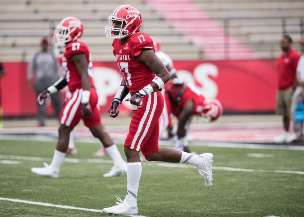 Cajuns spring game: A quiet day for the quarterbacks, but running backs Jordan Wright and Darius Hoggins impress _lowres