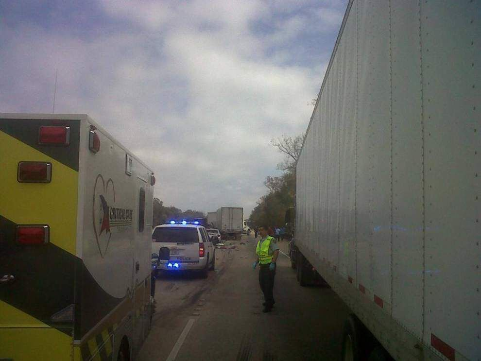 State Police: I-10 east open again after 5-vehicle pileup on Atchafalaya Bridge _lowres