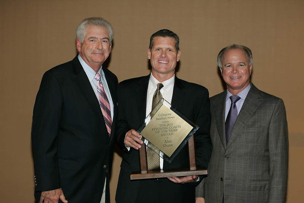 LSU's Alan Dunn presented National Pitching Coach of the Year award _lowres