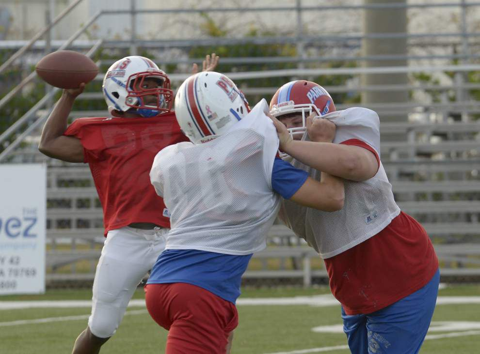 Parkview Baptist offensive line coming into its own _lowres