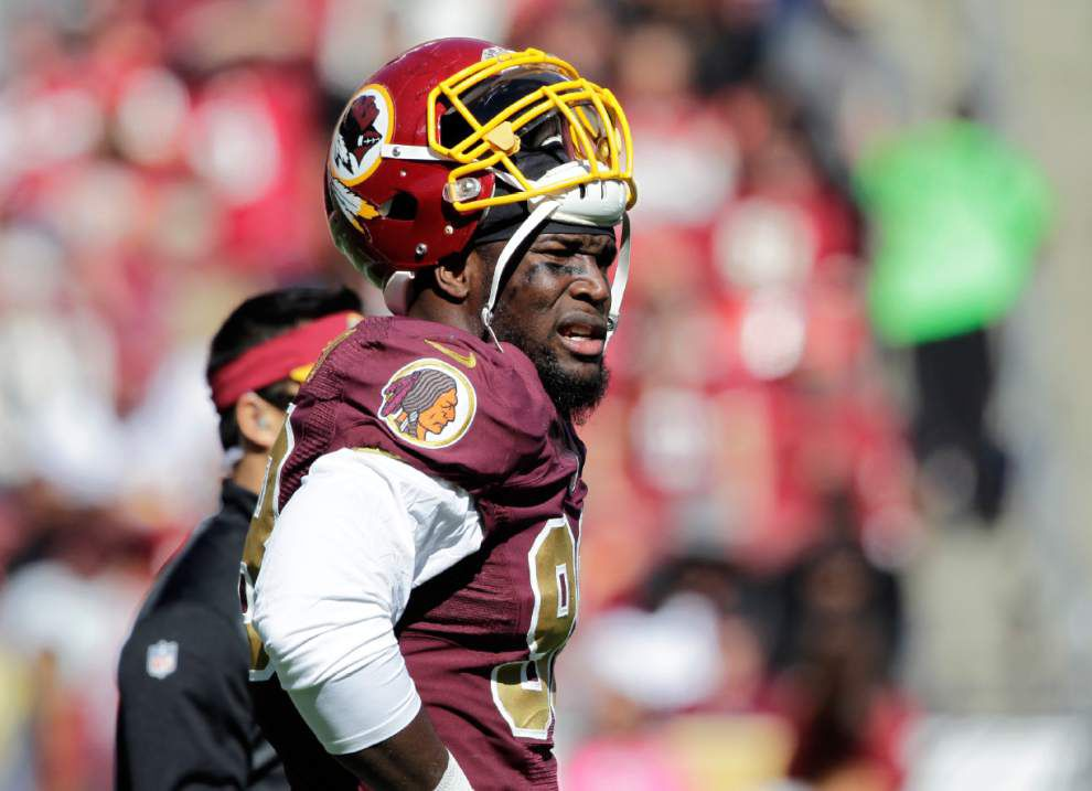 Redskins LB Brian Orakpo out for season with torn pectoral _lowres