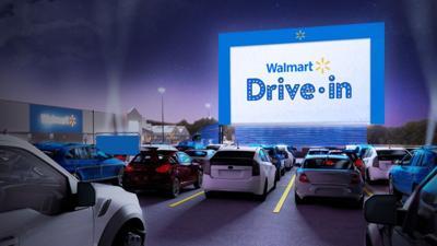 Walmart drive-in movies