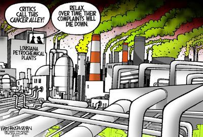 Walt Handelsman: Louisiana's Petrochemical Pollution