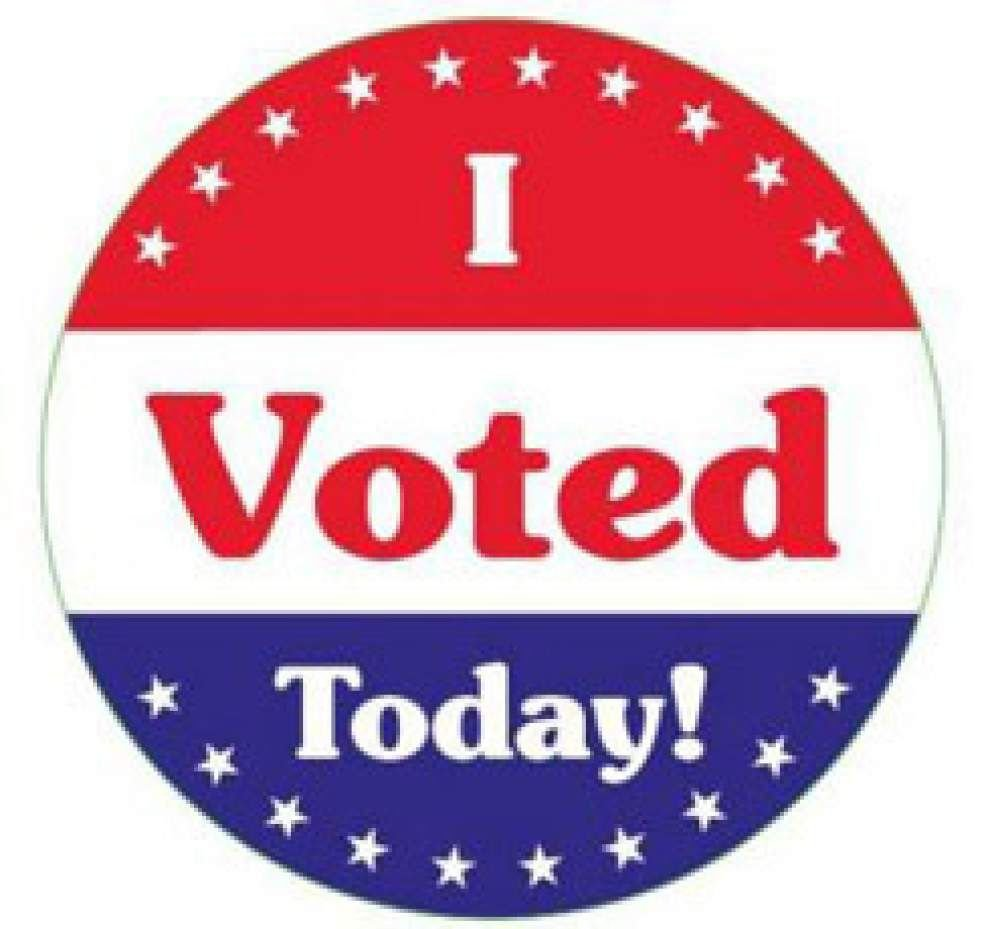 It is a graphic of Sweet I Voted Stickers Printable