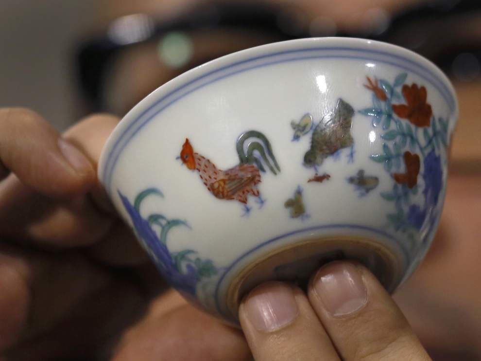 Ming Dynasty 'chicken cup' sold for record $36M _lowres