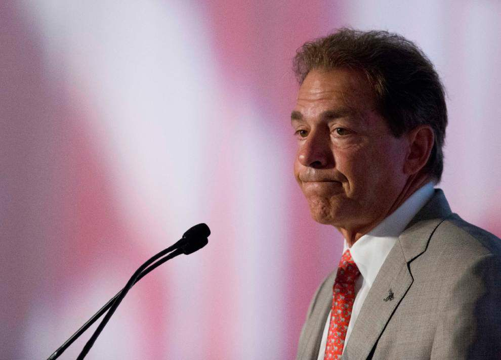 USA Today columnist: Nick Saban breaks out lame excuses for Alabama's poor finish last season _lowres