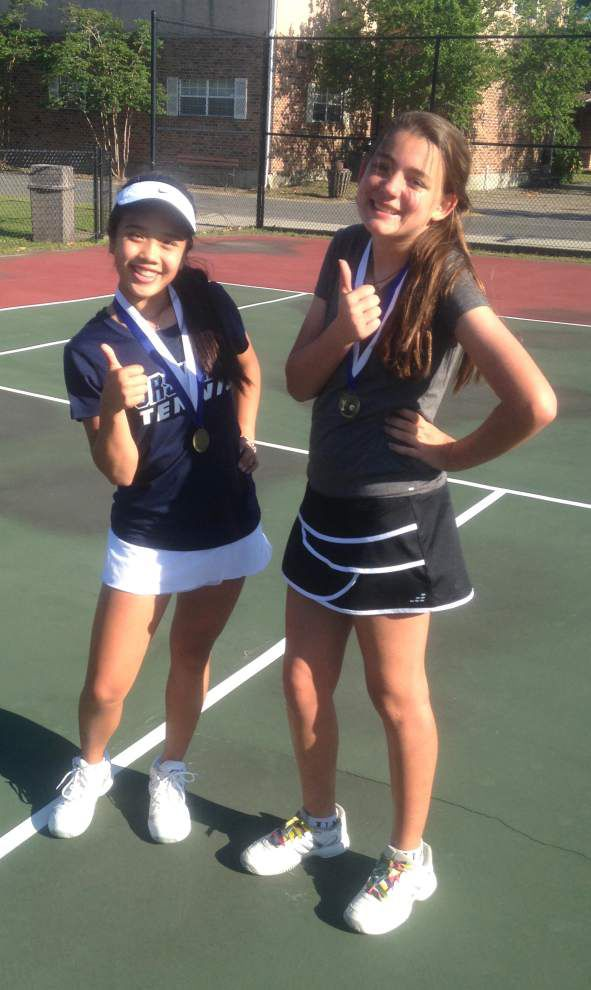 Ursuline Academy middle school tennis players share championship _lowres